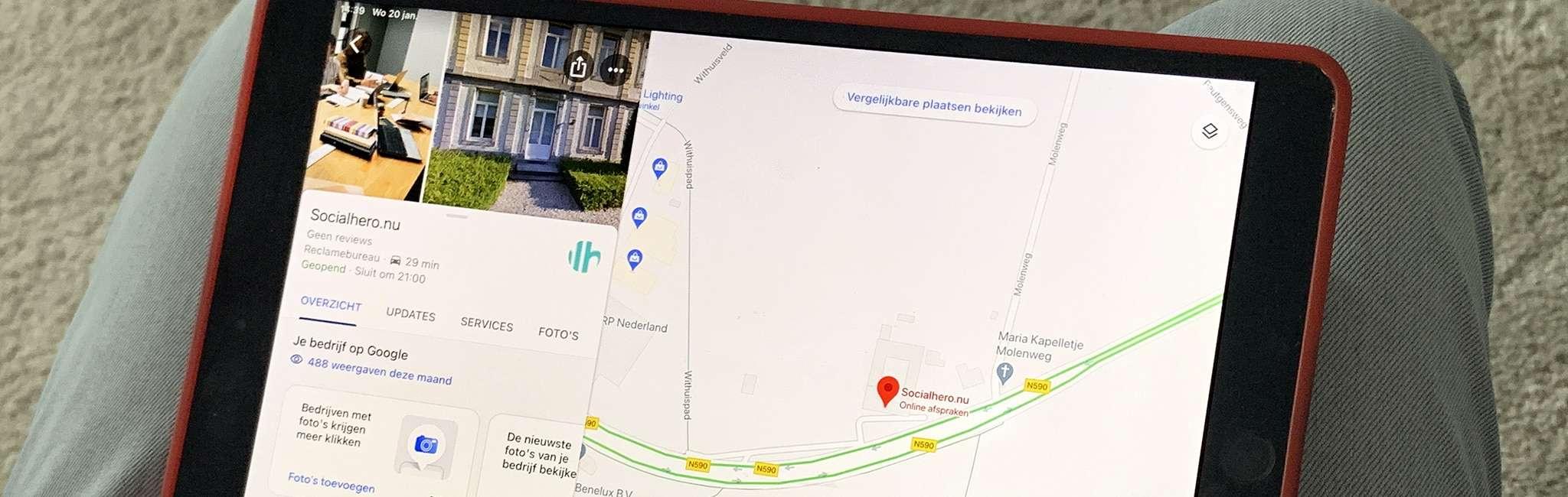 google maps covid-19 berichten